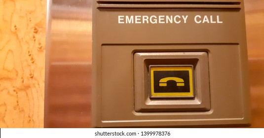 Emergency call button in a elavator
