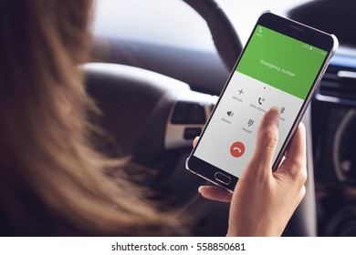 Emergency call use by smartphone