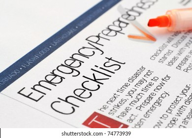 Emergency Checklist Images, Stock Photos & Vectors