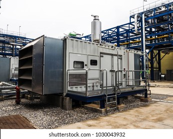 Emergency diesel generator in power plant.