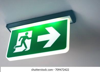 Emergency door escape light sign