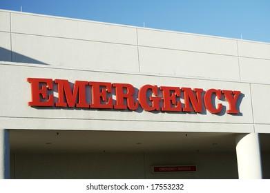 Emergency entrance to a community hospital.