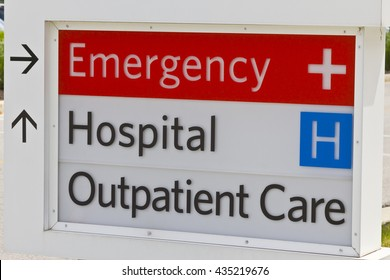 Emergency Entrance sign for a Local Hospital IV