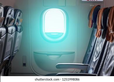 Emergency exit between seats