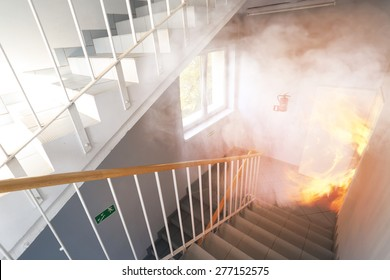 Emergency exit - fire in the building
