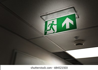 Emergency exit at night in office