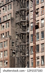Emergency exits of apartments in Manhattan