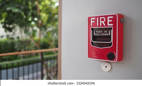 Emergency Fire alarm notifier or alert or bell warning equipment use when on fire.