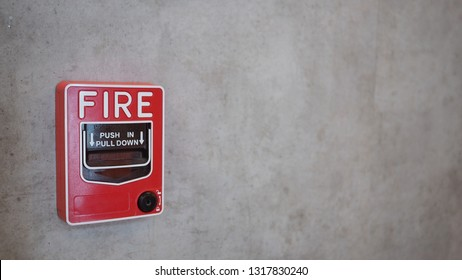 Emergency of Fire alarm system notifier or alert or bell warning equipment use when on fire (Manual Pull Station).