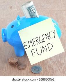 Emergency fund concept.