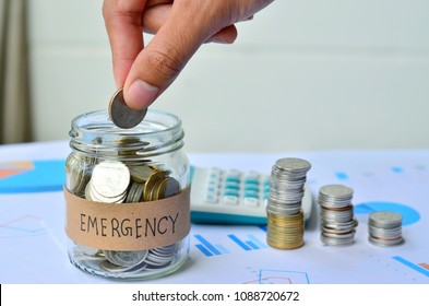 Emergency funds should be backed up.