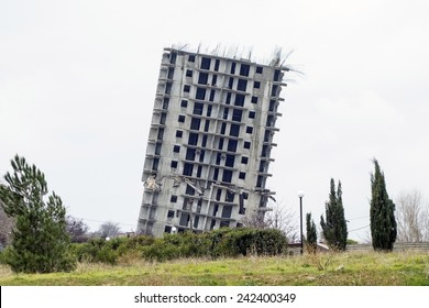 emergency house for demolition in the city of Sevastopol