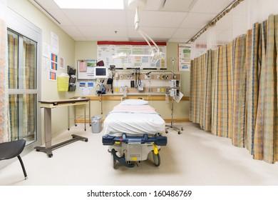 Emergency intake room in hospital