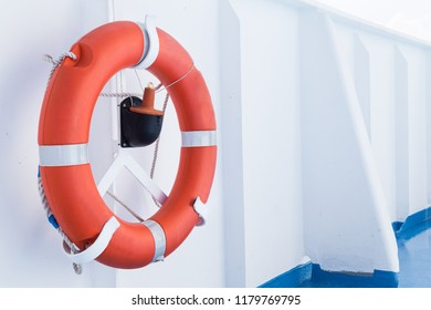 Emergency life buoy on board cruise ship as safety requirement