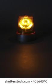 Emergency light on dark background
