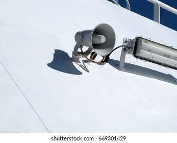 emergency loudspeaker on the boat