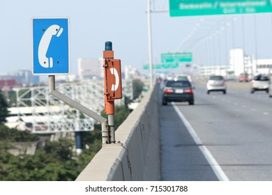 emergency phone on the toll way