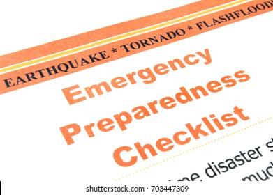 Emergency Checklist Images, Stock Photos & Vectors | Shutterstock