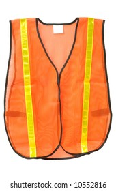 Emergency safety vest isolated on white