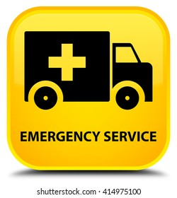 Emergency service yellow square button