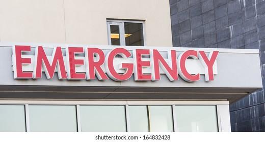 Emergency sign outside ER
