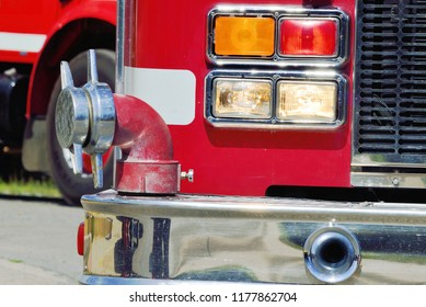 Emergency vehicle rear lights and outlets