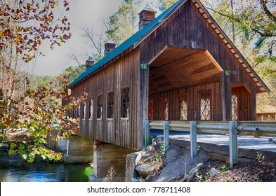 Emerts Cove covered bridge near Sevierville, Tennessee