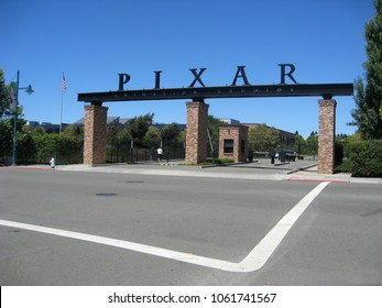 Emeryville, CA - August 14, 2009: Pixar Studios is an American computer animation film studio based in Emeryville, California that is a subsidiary of The Walt Disney Company.