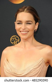 Emilia Clarke at the 68th Annual Primetime Emmy Awards held at the Microsoft Theater in Los Angeles, USA on September 18, 2016.