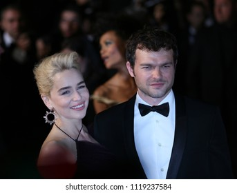 Emilia Clarke and Alden Ehrenreich attend the screening of 'Solo: A Star Wars Story' during the 71st annual Cannes Film Festival at Palais des Festivals on May 15, 2018 in Cannes, France.