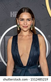 Emilia Clarke attends 2019 HBO's  Post Emmy Award Reception at Pacific Design Center, Los Angeles, CA on September 22, 2019