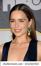 Emilia Clarke at the HBO's Official 2019 Emmy After Party held at the Pacific Design Center in West Hollywood, USA on September 22, 2019.