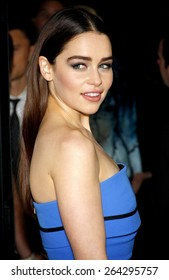 "Emilia Clarke at the HBO's third season premiere of ""Game of Thrones"" held at the TCL Chinese Theater in in Los Angeles, United States, March 18, 2013."