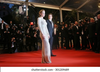 Emily Blunt, Benicio Del Toro  attend the 'Sicario' premiere during the 68th annual Cannes Film Festival on May 19, 2015 in Cannes, France.