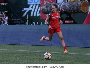 Emily Menges defender for the Portland Thorns FC at Providence Park in Portland Oregon USA July 6,2018.
