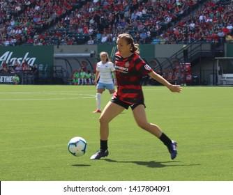 Emily Menges defender for the Portland Thorns at Providence Park in Portland, Oregon/USA June 2nd 2019.