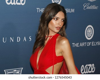 Emily Ratajkowski at the Art Of Elysium's 12th Annual Heaven Celebration held at the Private Venue in Los Angeles, USA on January 5, 2019.