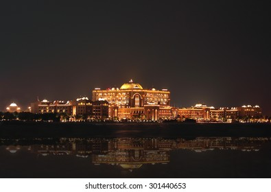 Emirates Palace, Abu Dhabi, United Arab Emirates - CIRCA July 1, 2015: Emirates Palace found in Abu Dhabi, UAE is beautiful place to see specially at night