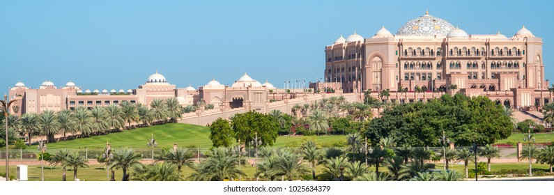Emirates Palace Hotel in downtown Abu Dhabi