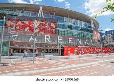 The Emirates Stadium exterior, London. June 2014. Home of Arsenal Football Club.