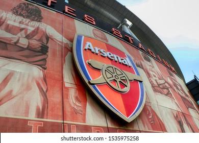 The Emirates Stadium (known as Ashburton Grove prior to sponsorship), home of Arsenal Football Club. Londra, England, United Kingdom - 15/10/2019