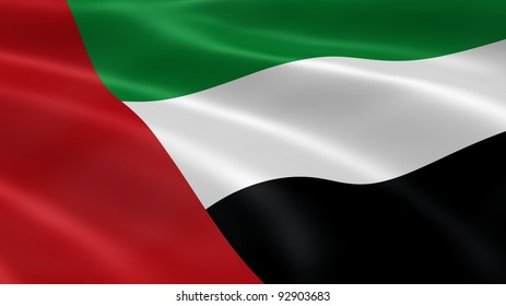 Emirati flag in the wind. Part of a series.