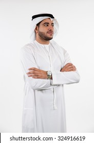 Emirati man with arms crossed