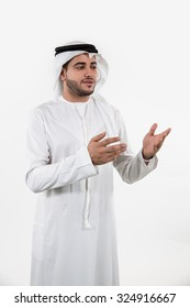 Emirati man looking away