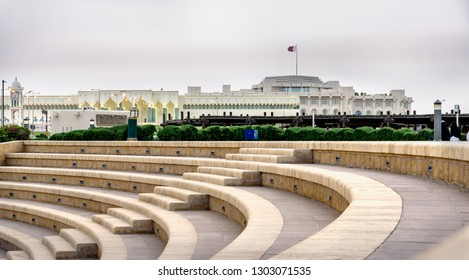 The Emiri Diwan palace at the centre of Doha, Qatar