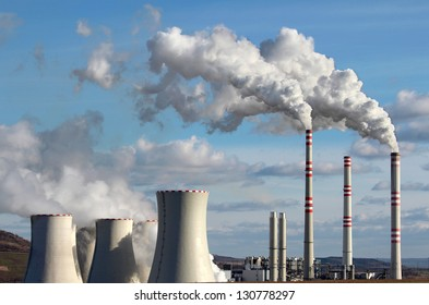emission from coal power plant