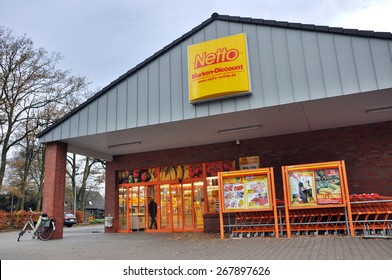 EMLICHHEIM, GERMANY - NOVEMBER 13, 2010: Netto Marken-Discount is a German supermarket chain, part of Edeka Group. The Netto Marken-Discount retail concept is to offer well-known brands at low prices
