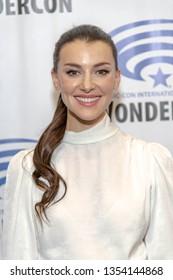 "Emma Lahana attends 2019 WonderCon - Marvel's ""Cloak and Dagger"" Press Room, Anaheim, CA on March 29th, 2019"