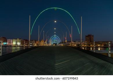 The Emma pontoon bridge by night