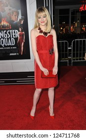 "Emma Stone at the world premiere of her movie ""Gangster Squad"" at Grauman's Chinese Theatre, Hollywood. January 7, 2013  Los Angeles, CA Picture: Paul Smith"